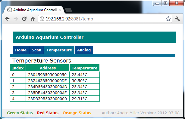 Arduino Web Enabled Aquarium Controller | andremiller net